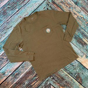 Southern Tide Men's Olive Long Sleeve Tee L